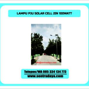 LAMPU PJU SOLARCELL 2 IN 1 100 WATT | PJU TENAGA SURYA TWO IN ONE 100WATT